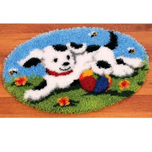 Изображение Собачка на поляне (коврик)