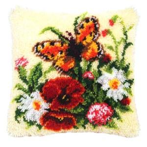 Изображение Цветы и бабочка (коврик)