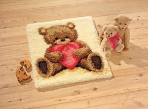 Изображение Мишка с сердечком (коврик)