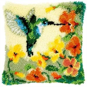 Изображение Колибри с цветами (коврик)