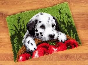 Изображение Далматинец с яблоками (коврик)