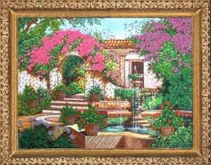 Изображение Дворик с фонтаном