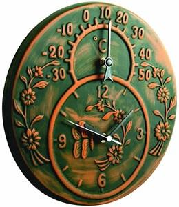Изображение Часы Kensington с термометром 30 см на кронштейне