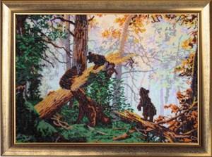 Изображение Утро в сосновом лесу