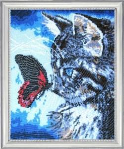 Изображение Котенок и бабочка