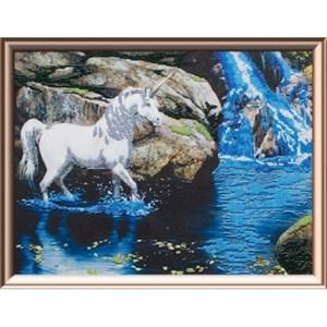 Изображение Единорог и водопад