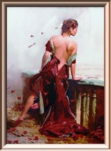 Изображение Девушка в красном