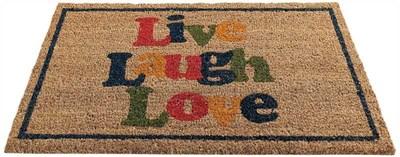 Изображение Коврик Live Laugh Love H45cm x W75cm
