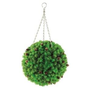 Изображение Искусственное растение Topiary Ball с шишками 30см на цепочке, пластик
