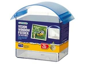 Изображение Кормушка пластиковая, 14см , на присосках для крепления к окну