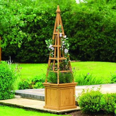 Изображение Емкость для растений с обелиском, дерево