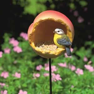 """Изображение Кормушка для птиц на стержне """"Персик"""""""