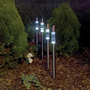 Изображение Набор светильников на солн батареях  4 шт Post Lights h61cм