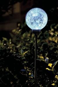 Изображение Светильник-шар на солн батарее, голубой