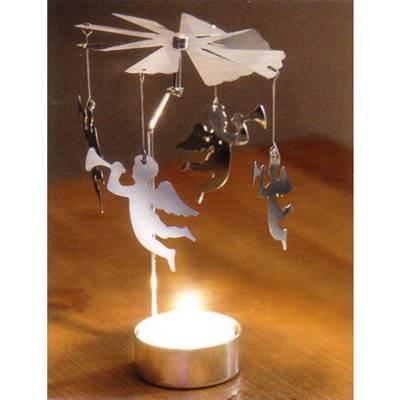 Изображение Вертушка с чайной свечой Ангел. 8 * 8 * 14см