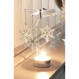 Изображение Вертушка с чайной свечой Снежинки. 8 * 8 * 14см