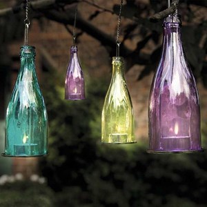 Изображение Подсвечник для чайной свечи Бутыль 23 * 8 см цвет в ассортименте