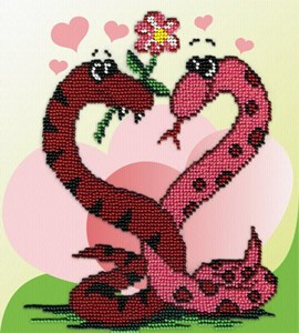 Изображение Змейки с сердечком