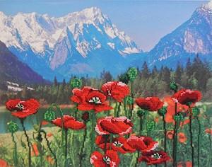 Изображение Маки и горы