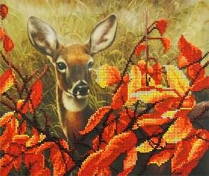 Изображение Олененок в листьях