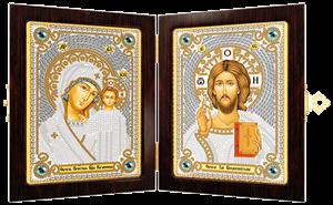 Изображение Икона Богородица Казанская и Христос Спаситель