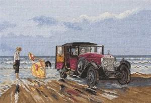 Изображение Винтажный автомобиль на пляже (Vintage Rolls On The Beach)
