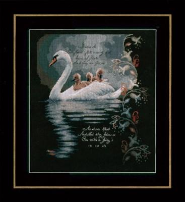 Изображение Лебедь с маленькими лебедями  (Swan with cygnets)