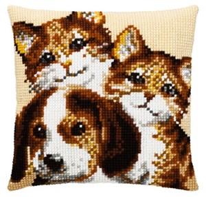 Изображение Два кота и собака (2 cats + dog)