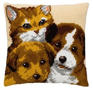 Изображение Две собаки и кот (2 dogs + cat)