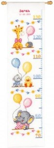 Изображение Душа ребенка Ростомер (Baby Shower Height Chart)