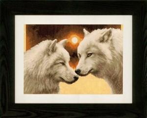 Изображение Волки в полнолуние (Wolves at full Moon)