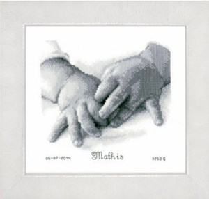 Изображение Детские ручки Метрика новорожденного (Baby Hands Birth Record)