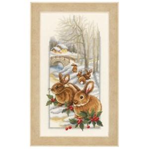 Изображение Кролики на снегу (Rabbits in the snow)