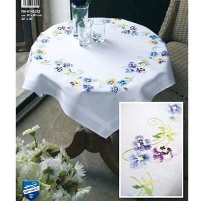 Изображение Анютины глазки Скатерть (Pretty Pansies Tablecloth)