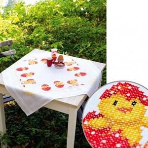 Изображение Вылупившиеся цыплята Скатерть (Chicks Hatching Table Cloth)