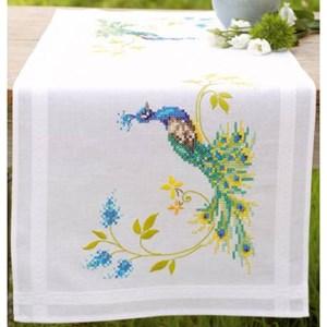 Изображение Павлин с цветами Салфетка (Peacock with Flowers Table runner)