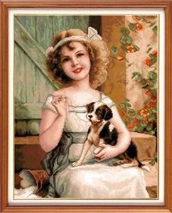 Изображение Девочка с собачкой