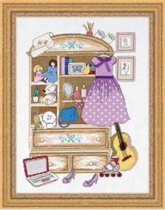 Изображение Шкафчик для девочки