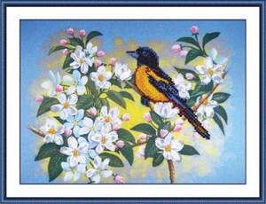 Изображение Птичка на яблоне