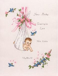 Изображение Винтажная метрика малыша (Vintage Baby Sampler)