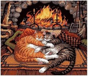 Изображение Кошки у камина (All Burned Out)