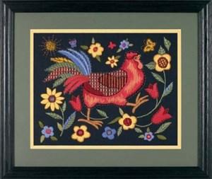 Изображение Петух на черном (Rooster on Black)