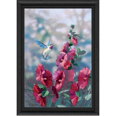 Изображение Колибри в цветах (Hollyhocks in Bloom)