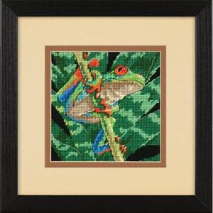 Изображение Древесная лягушка в листве (Tree Frog Among Leaves)