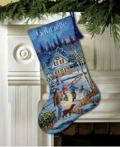 Изображение Веселье в сочельник Рождественский чулок (Christmas Eve Fun Stocking)
