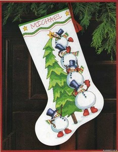 Изображение Наряжаем елку Рождественский чулок (Trimming the Tree Stocking)