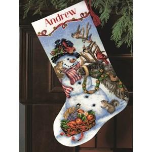 Изображение Встреча у снеговика Рождественский чулок (Snowman Gathering Stocking)
