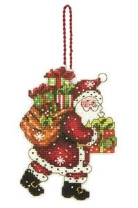 Изображение Санта с мешком Елочная игрушка (Santa with Bag)