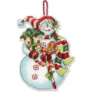 Изображение Снеговик со сладостями Елочная игрушка (Snowman with Sweets)