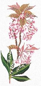 Изображение Цветы вишни и ландыши (Flowering Cherry-Lilly)